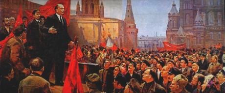 Discurso de Lenin en la plaza roja. D. Nalbandian.1970